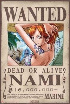 Afiche De One Piece - Nami