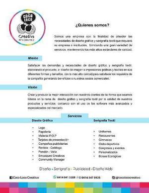 Diseñador Gráfico, Community Manager, Publicidad