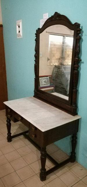 Mueble Antiguo con Tope Mármol Y Espejo