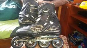 Patines Rollerblade Negros 80 Mm Sg7 Talla Eu 42 Uk 8 Us 9