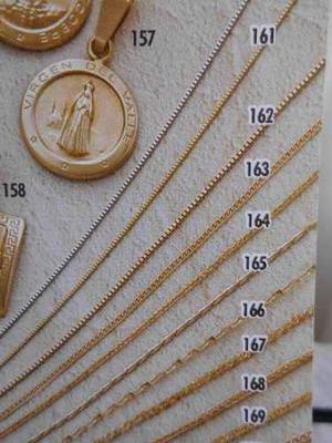 Cadena De Oro 18 Kt, 40 Cm, Referencia 163, Joyeria Mimi