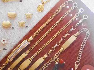 Esclava De Oro 18 Kt, Referencia 110, Joyeria Mimi