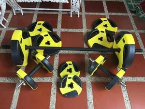 Kit De Pesas Y Mancuernas De Arena Fitness Sport