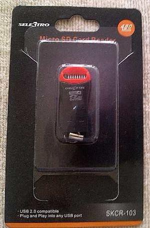 Lector De Memoria Micro Sd Adaptador Usb 2.0 Blister Sellado