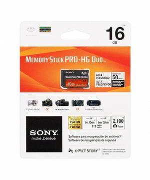 Memory Stick Pro-hg Duo 16gb Hx Alta Velocidad Sony Original