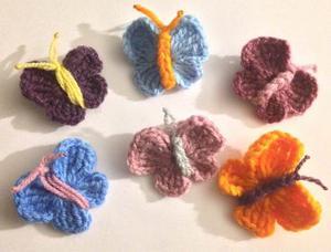 Oferta! Mariposas Tejidos A Crochet P/apliques Y Bisuteria