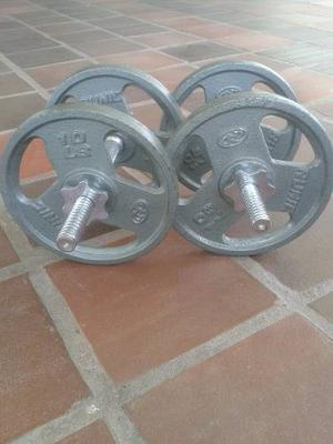 Pesas Mancuernas Con Discos De 10 Libras Nuevas