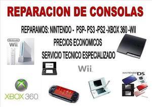 Servicio Tecnico Para Ps3 Ps2 Ps1 Xbox Wii Psp Ds