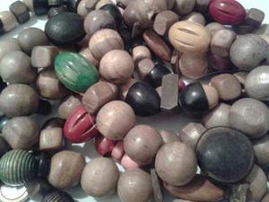 Tiras De Maderas Y Semillas. Material Para Bisuteria