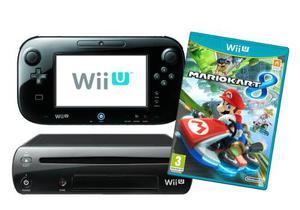 Nintendo Wii U 32gb Negro Deluxe Mario Kart 8 Sin Uso Nuevo