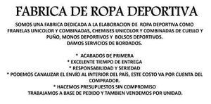 Fabrica De Ropa Deportiva Inversiones Talara