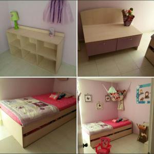 Muebles para cuarto de nia juego de cuarto nia con - Muebles para habitacion ...