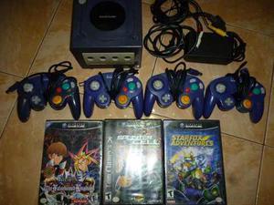 Nintendo Gamecube, 4 Controles Y 3 Juegos, Usado, Bs