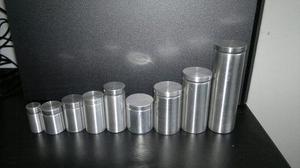 Separador Soporte Acrílico Vidrio Tornillo Aluminio Espejo