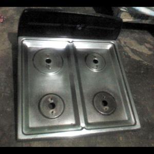 Tope de cocina acero inoxidable 4 hornillas posot class for Cocina 06 hornillas