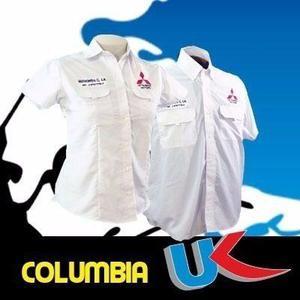 Uniformes Camisas Tipo Columbia,clasicas Bordado