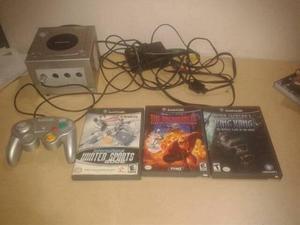 Vendo Nintendo Game Cube Con 1 Control Y 3 Juegos Originales