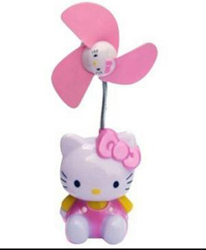 Ventilador Y Lampara De Pared Con Cable Usb De Hello Kitty