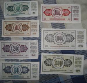 Billetes antiguos de Coleccion.