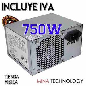 Fuente De Poder Atx De 750w 20+4 Pines Con Cable