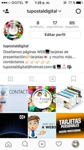 Páginas Web, Tarjetas De Presentación, Mucho Más.