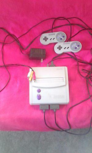 Consola De Nintendo Snes Original + 8 Juegos Vendo O Cambio!