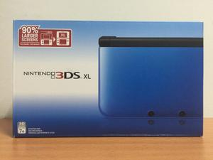 Nintendo 3ds Xl Azul/negro, 90% Más Largo Que El Normal!!