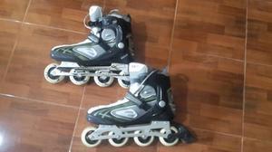 Patines En Linea Roller Derby Con Poco Uso Talla )