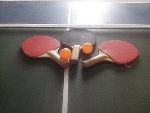 Mesa De Ping Pong Casera Malla/raqueta/2pelota Oferta
