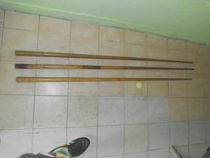 Palos De Pool... Combo 3 Palos Y Una Bola Blanca.