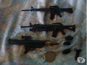 set de armas maxsteel, gi joe, action man precio por todo!!