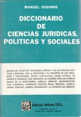 Diccionario De Ciencias Jurídicas Manues Ossorio