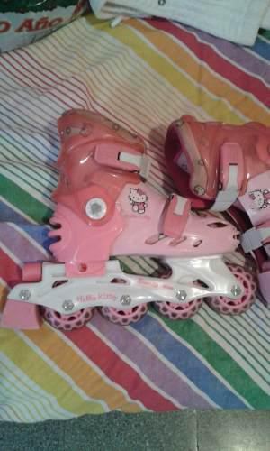 Patines Lineales Hello Kitty Sanrio Originales Como Nuevos
