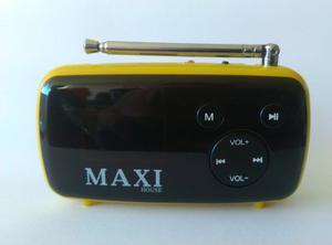 Reproductor Mp3 Usb Con Radio. Recargable