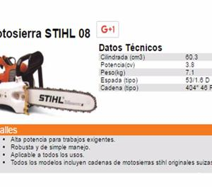 Moto Sierra STIHL 08S