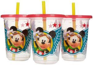 3 Vasos Antiderrame Mickey Mouse