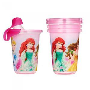 3 Vasos Antiderrame Princesas Disney