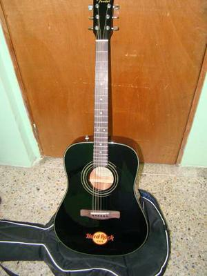 Guitarra Acústica Fender Dg-8s Hard Rock Black