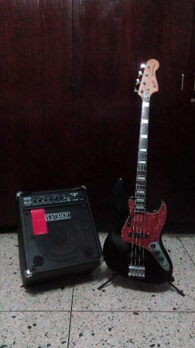 Mega Combo Bajo Electrico Y Guitarra Poco Uso.