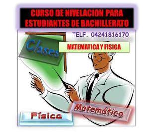 Clases Particulares De Matemática Y Fisica. Todo Nivel
