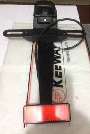 Kit Reflector Porta Placa Y Luz Moto Tx 200 Dm