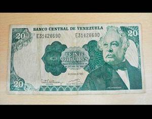 Billete De 20 Bolivares De