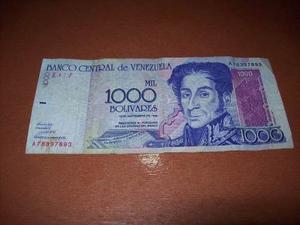 Billete De  Bolivares De  (morado)