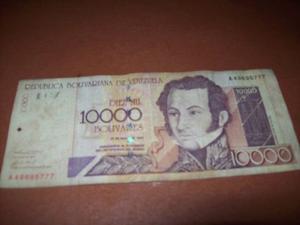Billete De  Bolivares Del