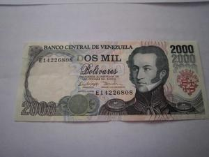 Billete De Dos Ml Bolivares Año