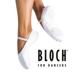 Bloch Zapatillas De Cuero Media Punta Blancas Tallas