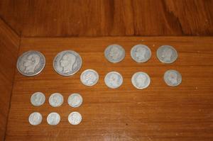 Coleccion De 15 Monedas De Plata