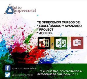 Cursos De Project, Excel U Office A Nivel Nacional E Inter