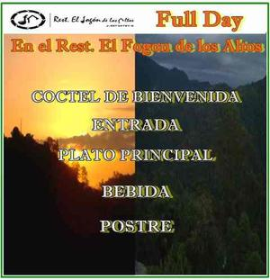 Full Day En El Restaurante El Fogón De Los Altos C.a