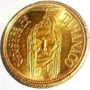 Medalla Caciques De Venezuela Tamanaco Oro 22k